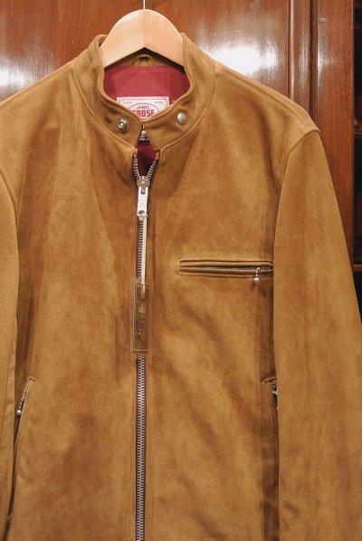 画像2: JAMES GROSE TROPHY JACKET 羊革 スウェード シングルライダースジャケット イングランド製 (42) タグ付き 新品 正規輸入品