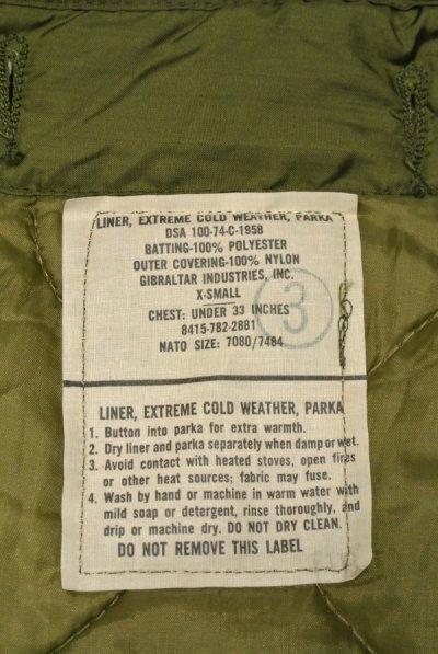 画像3: 74 デッドストック U.S ARMY M-65 Field Parka COAT モッズコートのライナー【X-SMALL】
