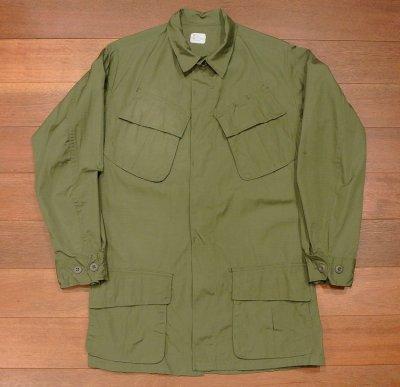 画像1: 69年デッドストック U.S ARMY リップストップ ジャングルファティーグジャケット【SMALL-LONG】