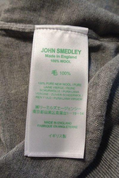 画像3: JOHN SMEDLEY ジョンスメドレー メリノウール タートルネック 長袖 (Gray/S) 新品 タグ付き