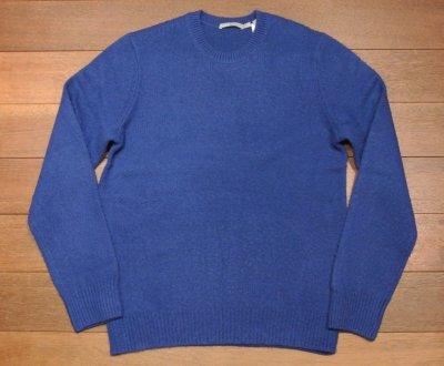 画像2: 新品 VINCE ウール+カシミヤ シャギードック クルーネックセーター(Blue/S,M) $345