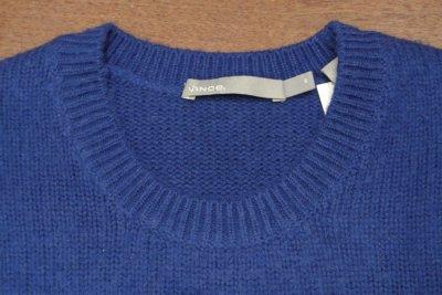 画像3: 新品 VINCE ウール+カシミヤ シャギードック クルーネックセーター(Blue/S,M) $345