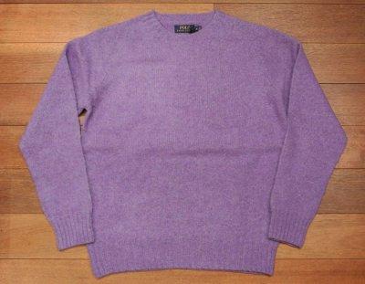 画像1: HOLD. ポロラルフローレン シェトランドウール+カシミヤ シャギードックセーター スコットランド製(Purple/M) 新品 並行輸入