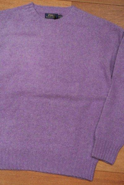 画像2: HOLD. ポロラルフローレン シェトランドウール+カシミヤ シャギードックセーター スコットランド製(Purple/M) 新品 並行輸入