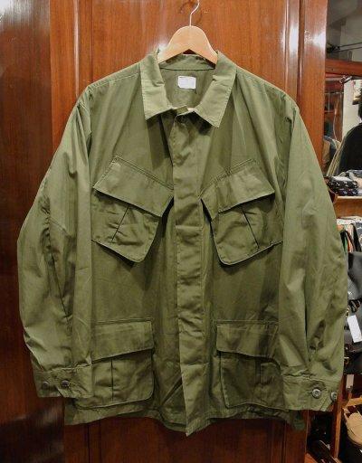 画像1: 69年 デッドストック U.S ARMY ノンリップ ジャングルファティーグジャケット 3rd【LARGE-SHORT】
