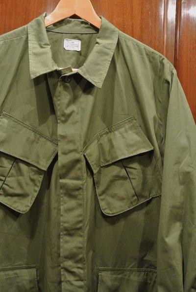 画像2: 69年 デッドストック U.S ARMY ノンリップ ジャングルファティーグジャケット 3rd【LARGE-SHORT】
