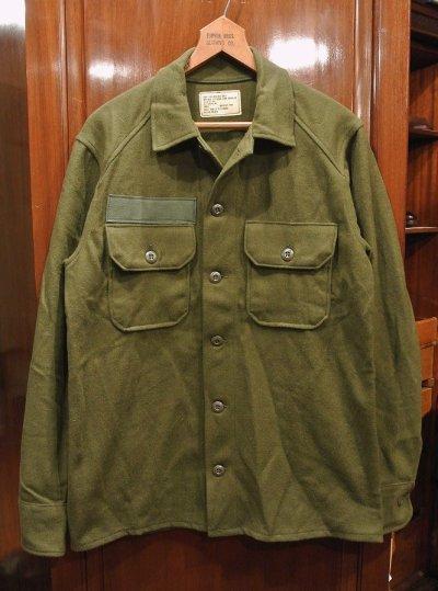 画像1: DEAD STOCK 70s US ARMY WOOL SHIRTS デッドストック  ウールシャツ 【SMALL】