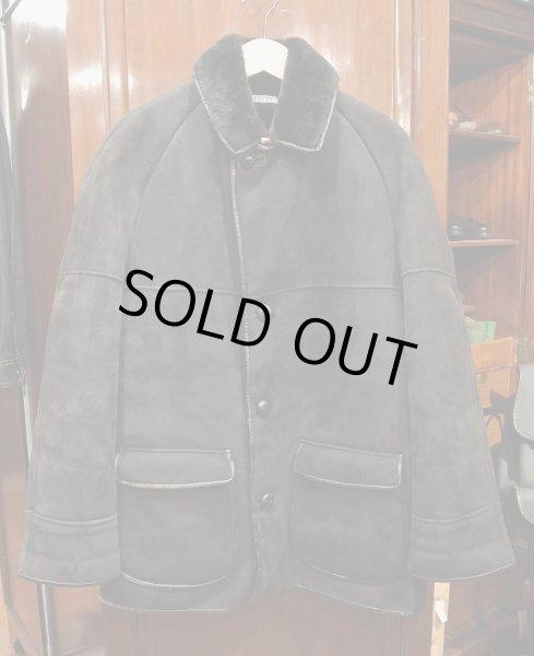 画像1: (USED) NURSEYS Shearling Coat ナーセイズ ムートンコート(Black/38)ビンテージ 中古 (1)