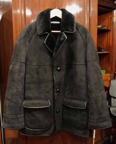 画像2: (USED) NURSEYS Shearling Coat ナーセイズ ムートンコート(Black/38)ビンテージ 中古