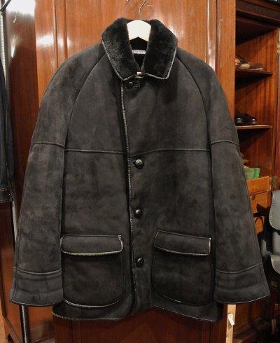 画像1: (USED) NURSEYS Shearling Coat ナーセイズ ムートンコート(Black/38)ビンテージ 中古