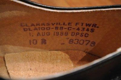 画像3: 88年製 デッドストック U.S NAVYサービスシューズ 【10-R】CLARKSVILLE FTWR.製