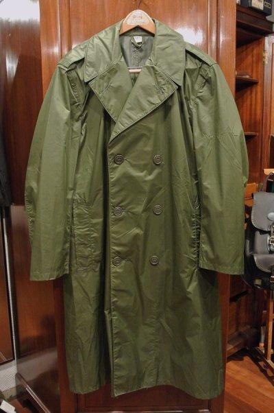 画像1: (VTG/USED) 60s US ARMY RAIN TRENCH COAT (OLIVE DRAB/38-SHORT)米軍 レイントレンチコート 中古