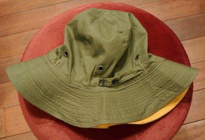 画像2: 40s Dead Stock WWII USAAF Reversible Sun Hat デッドストック リバーシブルハット (OD×Yellow/6) 61cm