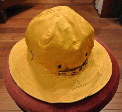 画像1: 40s Dead Stock WWII USAAF Reversible Sun Hat デッドストック リバーシブルハット (OD×Yellow/6) 61cm