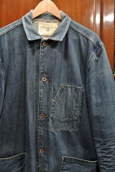 画像2: 【EXCELLENT USED】RRL ラルフローレン デニム カバーオールジャケット【L】ワークジャケット 中古