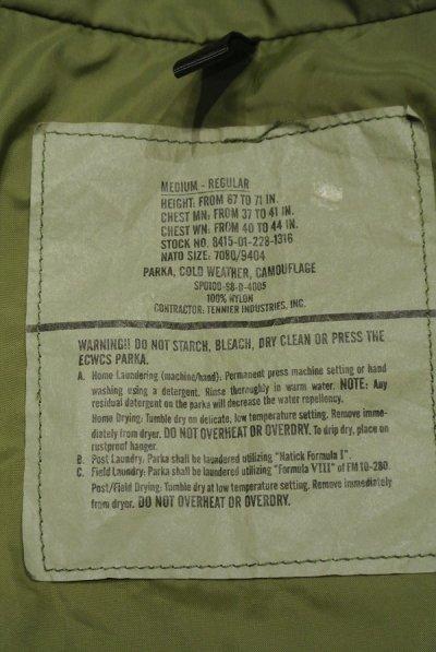 画像3: USED 98年 U.S.ARMY ECWCS GEN1 ゴアテックスパーカー(M-R) ウッドランドカモ