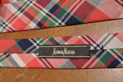 画像3: 【クリックポスト198円も可】Neiman Marcus ニーマンマーカス コットン マドラス ネクタイ (White*Red) 新品 並行輸入