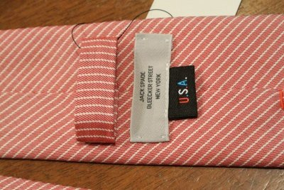 画像3: 【クリックポスト198円も可】JACK SPADE ジャックスペード コットン+シルク ストライプネクタイ (Red) 新品 並行輸入 定価$98