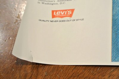 画像3: デッドストック Levi's リーバイス ポスター デニムイラスト (318×610mm) ビッグE Deadstock 501