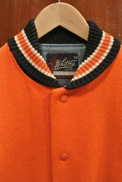 画像2: USED/VTG 60-70s Whiting LOS ANGELES 袖レザー バーシティジャケット アメリカ製 (44) スタジャン 中古 ビンテージ