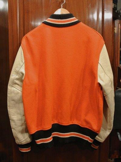 画像3: USED/VTG 60-70s Whiting LOS ANGELES 袖レザー バーシティジャケット アメリカ製 (44) スタジャン 中古 ビンテージ