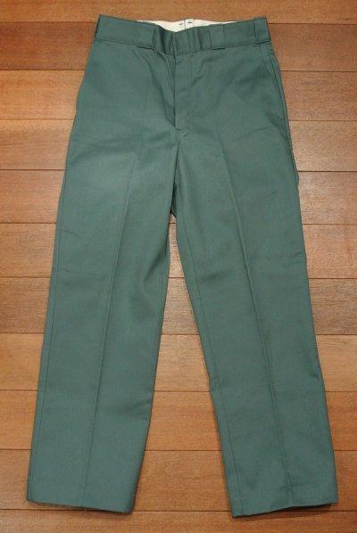 画像2: 90s デッドストック Dickies ディッキーズ ワークパンツ アメリカ製 Green【 W30 】フラッシャーつき 裾上げあり
