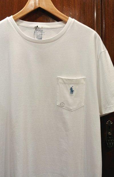 画像2: 【クリックポスト198円も可】ポロラルフローレン ポケット+ポニー刺繍 Tシャツ【White/L】新品 並行輸入