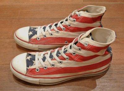 画像2: (USED) 90s CONVERSE ALLSTAR FLAG アメリカ製 コンバース オールスター 星条旗(9) 中古