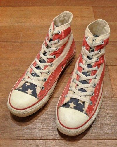 画像1: (USED) 90s CONVERSE ALLSTAR FLAG アメリカ製 コンバース オールスター 星条旗(9) 中古