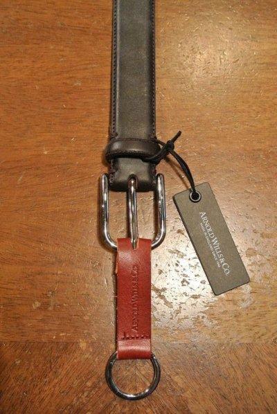 画像3: ARNOLD WILLS(アーノルド ウィルス)レザーベルト イングランド製  30mm (BROWN, 32) 定価13750 新品