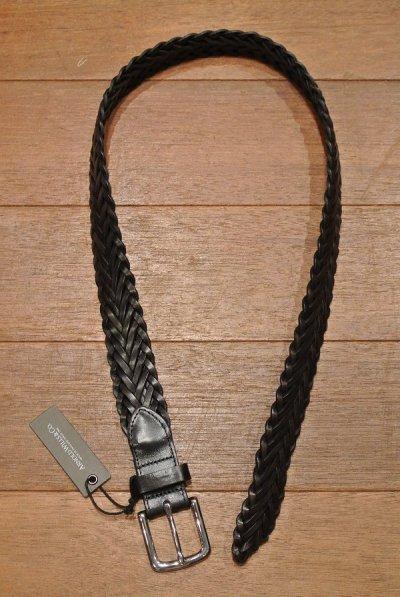 画像2: ARNOLD WILLS(アーノルド ウィルス)レザーメッシュベルト イングランド製 (NAVY/30) 定価13200 新品
