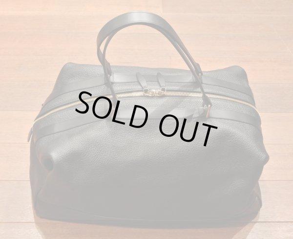画像1: GLOBE TROTTER グローブトロッター Propellor Overnight Bag レザー2WAYバッグ(Black) 新品 イングランド製 定価253000 70%OFF (1)