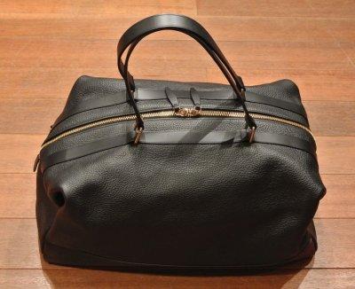 画像1: GLOBE TROTTER グローブトロッター Propellor Overnight Bag レザー2WAYバッグ(Black) 新品 イングランド製 定価253000 70%OFF