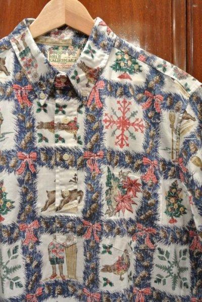 画像2: (USED) 90s Reyn Spooner レインスプーナー クリスマス プルオーバー ハワイアンシャツ ハワイ製 (XL) メレカリキマカ 中古