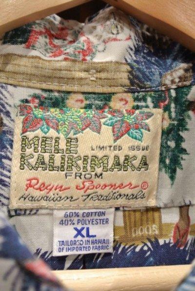 画像3: (USED) 90s Reyn Spooner レインスプーナー クリスマス プルオーバー ハワイアンシャツ ハワイ製 (XL) メレカリキマカ 中古