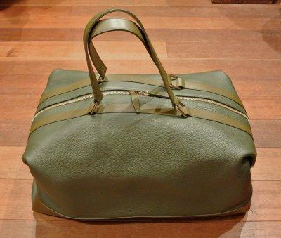 画像1: GLOBE TROTTER グローブトロッター Propellor Overnight Bag レザー2WAYバッグ(Khaki) 新品 イングランド製 定価253000 70%OFF