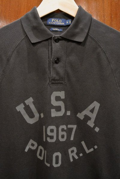 画像2: 【クリックポスト198円も可】(USED) ポロラルフローレン ロゴ メッシュポロシャツ【Black/S】中古