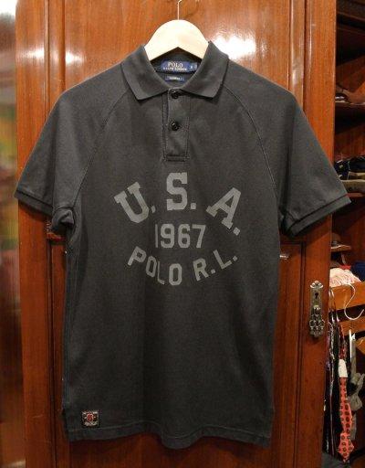 画像1: 【クリックポスト198円も可】(USED) ポロラルフローレン ロゴ メッシュポロシャツ【Black/S】中古