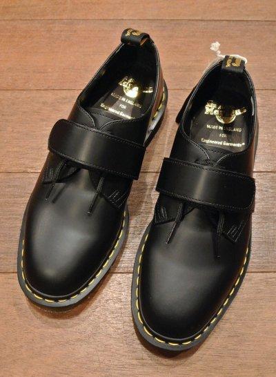 画像1: 新品 エンジニアドガーメンツ×ドクターマーチン イングランド製 ベルクロプレーントゥ (BLACK/UK6,US7) Engineered Garments×Dr.Martens VELCRO
