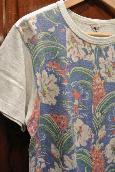 画像3: (クリックポスト198円も可)(USED) FilMelange フィルメランジェ アロハプリント ポケットTシャツ(4) 日本製