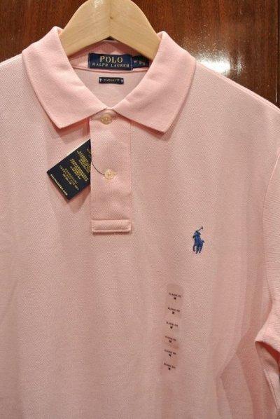 画像2: SALE.【クリックポスト198円も可】ポロラルフローレン ポニーワンポイント刺繍 鹿の子ポロシャツ CLASSIC FIT【Pink/M】新品 並行輸入
