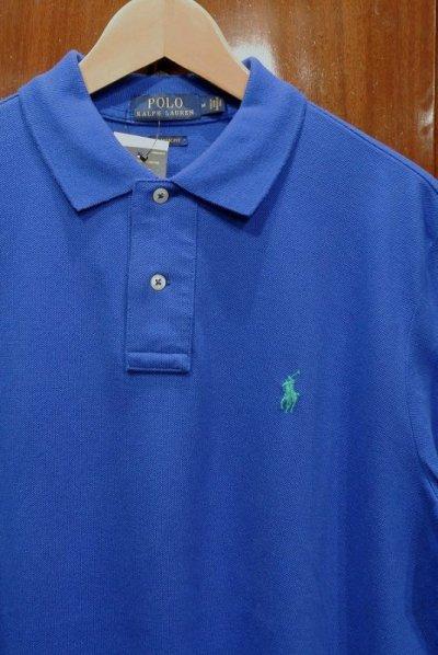 画像2: SALE.【クリックポスト198円も可】ポロラルフローレン ポニーワンポイント刺繍 鹿の子ポロシャツ CLASSIC FIT【Blue/M.L】新品 並行輸入