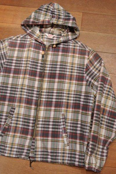 画像2: (VTG/USED) 60s Sportswear マドラスチェック フルジップパーカー (M)ビンテージ 中古 ジャケット