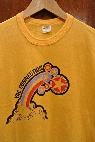 画像2: 【クリックポスト198円も可】(USED) 70s RUSSEL ATHLETIC プリントTシャツ アメリカ製 (Yellow/L) 中古 ビンテージ
