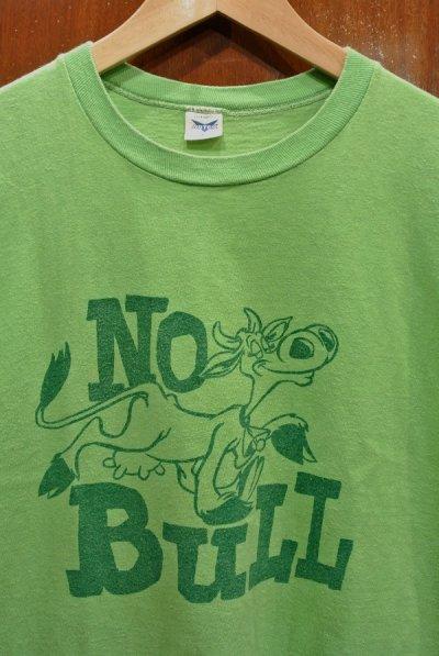 画像2: 【クリックポスト198円も可】(USED) 70s ARTEX 染み込みプリントTシャツ レアカラー アメリカ製 (黄緑/L) 中古 ビンテージ