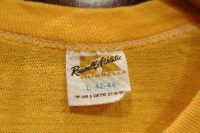 画像3: 【クリックポスト198円も可】(USED) 70s RUSSEL ATHLETIC プリントTシャツ アメリカ製 (Yellow/L) 中古 ビンテージ
