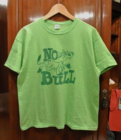 画像1: 【クリックポスト198円も可】(USED) 70s ARTEX 染み込みプリントTシャツ レアカラー アメリカ製 (黄緑/L) 中古 ビンテージ
