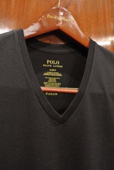 画像2: SALE.【クリックポスト198円も可】ポロラルフローレン 裾ポニーワンポイント刺繍  VネックTシャツ【Black/S】新品 並行輸入