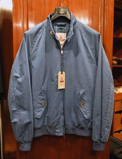画像1: 新品 BARACUTA G9 Garment Dyed バラクータ 後染め ハリントンジャケット(Blue/40) 並行輸入 ルーマニア製