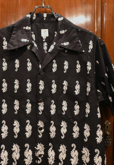 画像2: 【クリックポスト198円も可】(EXCELLENT USED) ANATOMICA HAWAIIAN SHIRTS SEAHORSE タツノオトシゴ ハワイアンシャツ(BLACK/M) 中古